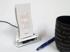 """Designer Uhr Mini Wave -Bausatz v2- """"Weisser Riese"""""""