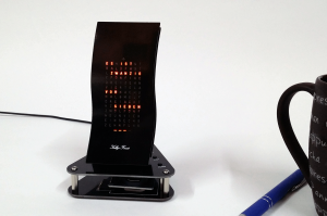 """Designer Uhr Mini Wave -Bausatz v2- """"Schwarzer Peter"""""""